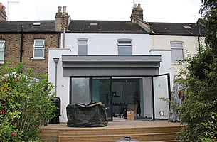 Modern rear extension in Hazelbank Road, Hither Green
