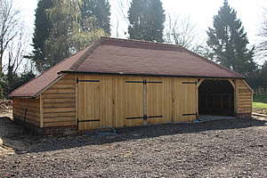 Oak framed garages and outbuildings in Kent